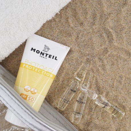 monteil spf 50 apsauga nuo saules veidui